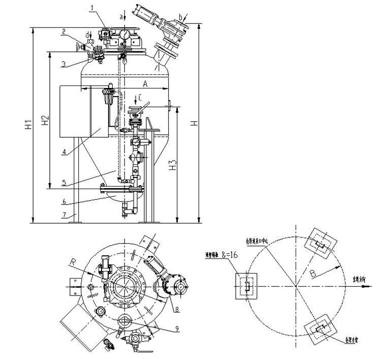 排气阀 3.料位计 4.就地控制箱 5.发送器本体 6.气化装置 7.支架 8.图片